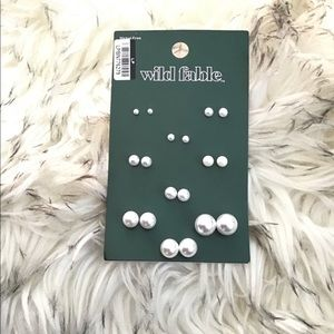 Wild Fable Pearl Ear Studs